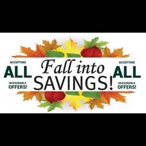 FALL INTO NEW SAVINGS!🍁MAKE ME AN OFFER!🛍😁🌅🍎